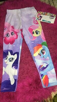 My Little Pony Characters Girls Leggings Jeggings Trousers Bottoms 5/6 Anni