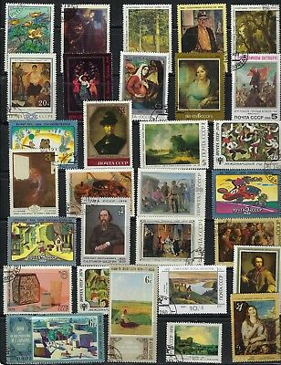 Russia - Art on Stamps..................Br - # 8 25