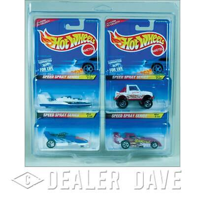 Dealer Dave Hot Wheels SPEED SPRAY SERIES w/FREE 4-Car Protecto-Pak 1:64