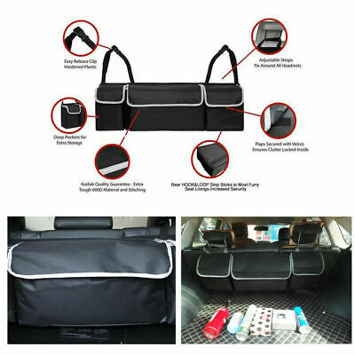 Car Interior Accessories High Capacity Multi-use Seat Back Organizers Bag Black