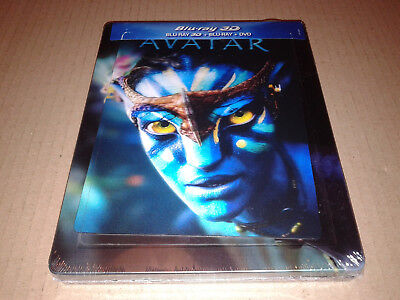 Avatar 3D+2D Blu-ray Steelbook with lenticular magnet - Brand New