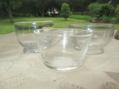 Antique Georgian Period 3 Glass Patty Pan Dishes Pate Dishes