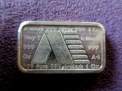USVI Ingot Co. RARE 1 Troy Oz. .999 Fine Silver Art Bar Chunky Ingot 1981