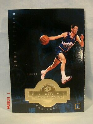 1998-99 Spx Finite Excellence Radiance 013/590 John Stockton #206 Card