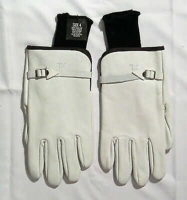 Gloves White Leather Wild Land Fire Fighting Protective Size: Xl & Inserts Size: