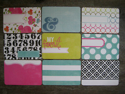 """'favourite Things' Project Life Cards By Becky Higgins -6"""" X 4"""""""