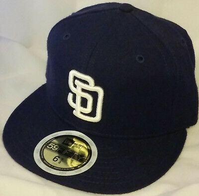 a18373e17bd268 NWT NEW ERA San Diego PADRES SD navy 59FIFTY size 7 fitted baseball ...