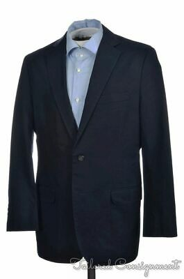 BROOKS BROTHERS Fitzgerald Blue 100% Cotton Mens Blazer Sport Coat Jacket - 39 R