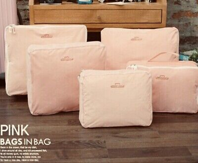 5 Travel Luggage Organizers For Clothes Storage Bags Peachy/ Pink BAGS IN A BAG