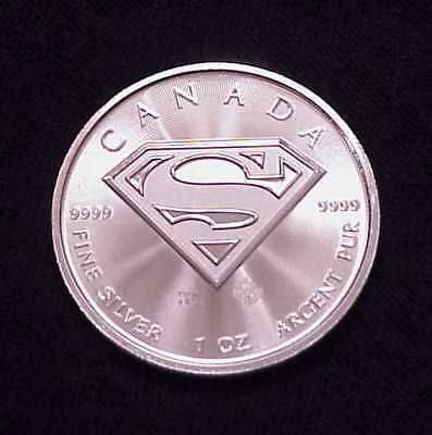 "2016 ""Superman"" 1 Oz .9999 Fine Silver Canadian $5.00 **Superb**"