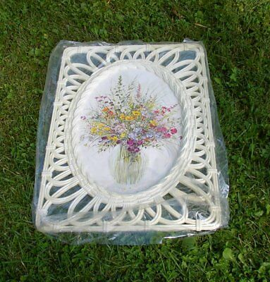 Syroco Floral Wall Art In Off White Lattice Frame - Pastel Wildflowers - #2