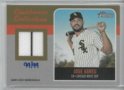 2019 Topps Heritage JOSE ABREU Clubhouse Collection Gold Relic #'d 99/99! SSP