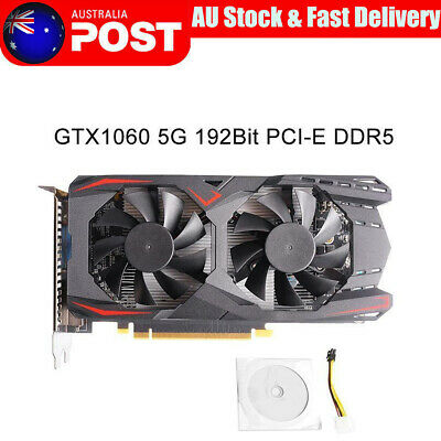 Graphics Card GTX1060 5G 192Bit PCI-E DDR5 Video Card Gaming Graphics Card AU