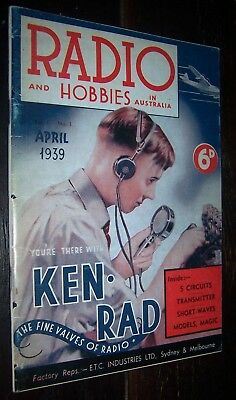 Radio and Hobbies in Australia 1939 .. (1989 reproduction of the First Issue ) .