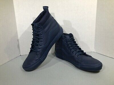 8a87d45d6b Vans Classic SK8 Hi Top Men s Sz 11 Blue Lace Up High Top Skate Shoes ZZ