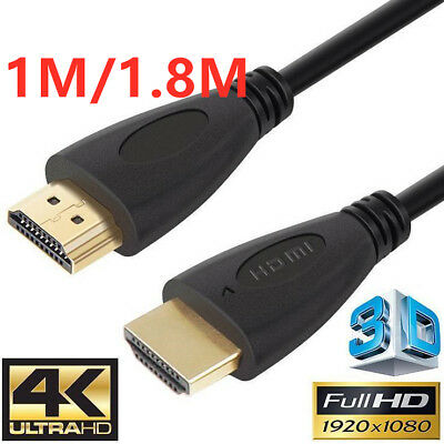 GOLD HDMI Cable v1.4 Ultra HD 4K 2160p 1080p 3D High Speed Ethernet ARC HEC OZ