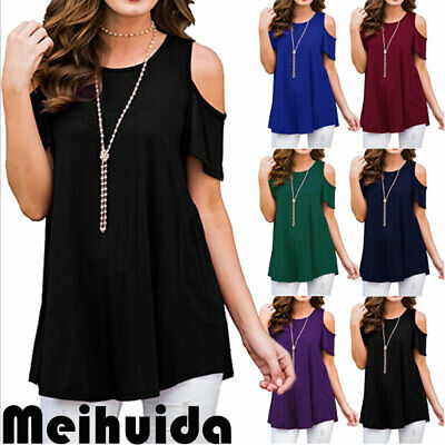 Women Ladies Summer Loose Tops Short Sleeve T Shirt Blouse Casual 8-22 Plus Size