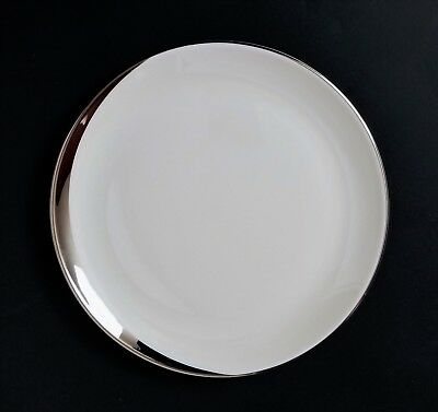 "Pickard China Crescent Platinum on Ivory 6 1/4"" Bread & Butter Plates DISCOUNTS"