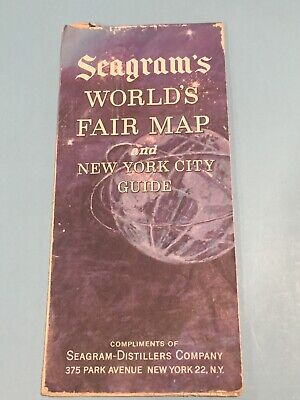 New York World's Fair 1964/1965 - Seagram's Map and New York City NYC Guide