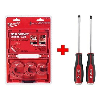 Milwaukee Close Quarters Tubing Cutter Set Rust Protection Weep Holes (3-Piece)