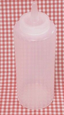 48 Ea Plastic Clear Squeeze Bottle 12 Oz Mustard Ketchup Mayonnaise Bbq Sauce