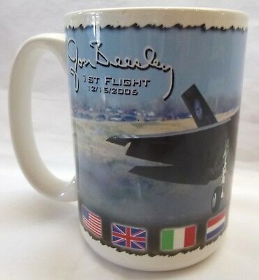 F-35 Joint Strike Fighter Coffee Mug-Jon Beesley Test Pilot-Commemorative Mug