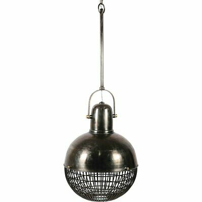 Renwil Burgio 3 Light Pendant Lamp in Gray and Antique Brass