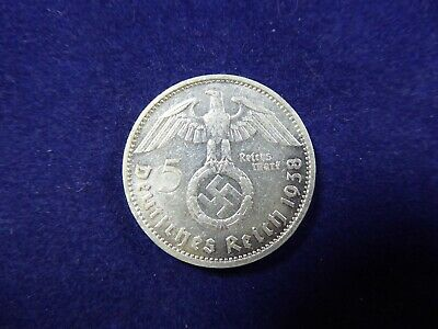1938 5 Reichs Mark coin - Germany
