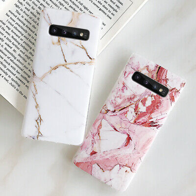Marble Pattern Soft Silicone Case Cover For Samsung Galaxy S10+ S10e S9 S8 Plus