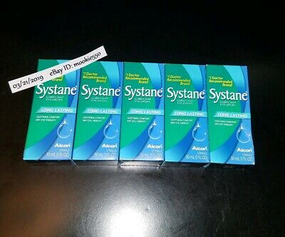 FRESH! 5 Boxes LARGE 1oz 30mL Systane Long-Lasting Lubricant Eye Drops 10/2020!