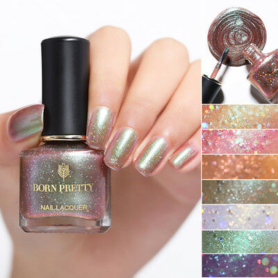 BORN PRETTY 6ml Holographic Chameleon Nail Polish Glitter Laser Nail Art Varnish