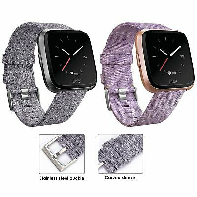 Replacement Band For Fitbit Versa Fabric Luxury Watch Sports Strap Wristband