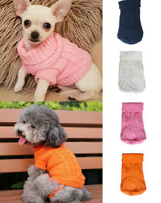 Pet Dog Cat Warm Jumper Knitted Wook Sweater Clothes Cat Knitwear Coat Apparel
