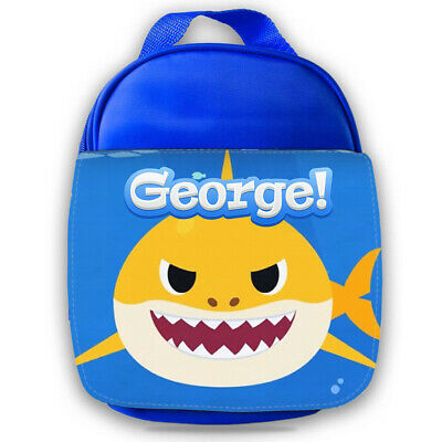 Personalised Baby Shark Kids Lunch Bag Any Name Childrens Boys School Snack 1