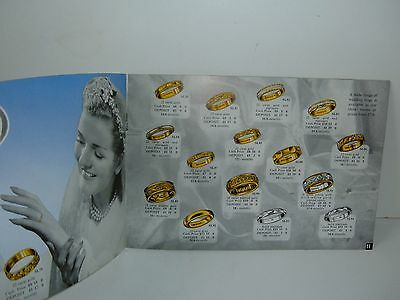 ** VINTAGE 1950s RING CATALOGUE WITH PRICES ~ SAQUI + LAWRENCE LONDON LOT **