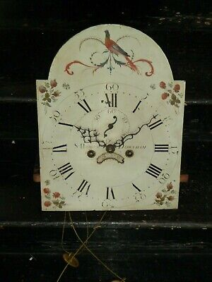 8 day longcase clock movement & dial for spares - S Howes Downham