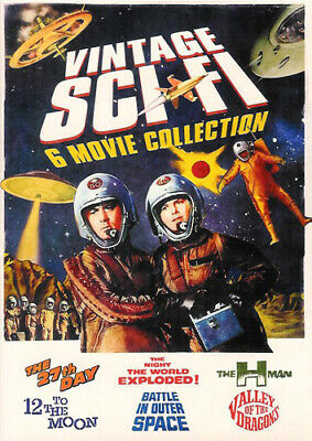 Vintage Sci-Fi Movies - 6 Movie Collection (2 Disc) DVD NEW
