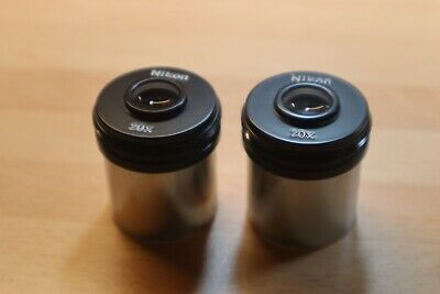 NIKON 20x BINOCULAR MICROSCOPE EYEPIECES, 30mm, Pair In Great Condition