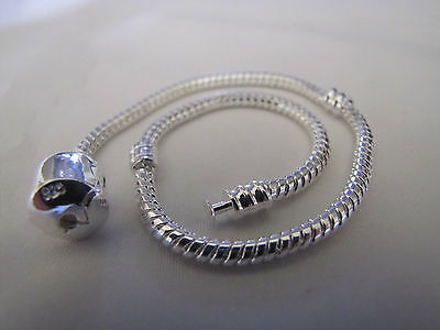 19cm 925 STERLING SILVER PLATED SNAKE CHAINS FOR EUROPEAN STYLE CHARM BRACELETS