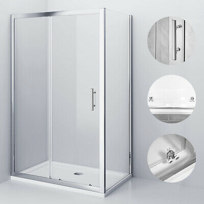 Sliding Shower Enclosure And Tray And Waste Door Side Panel Safety Glass Cubicle