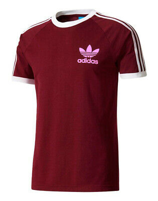 Adidas Originals t shirt Men's California Retro Crew Neck Short Sleeve Burgundy