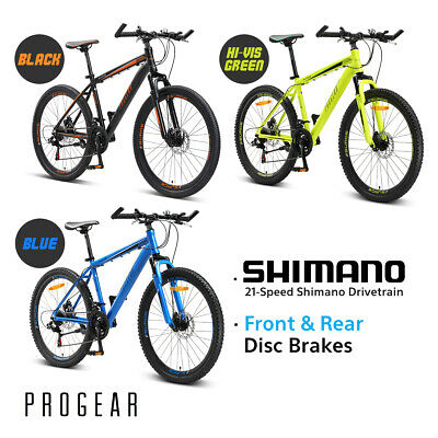 NEW PROGEAR SURGE Mens' MTB Mountain Bike 26inch Shimano 21-Speed Alloy