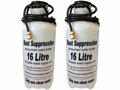 2 X Dust Suppression Water Bottle 16L for use with STIHL TS400 TS410 TS420 saws