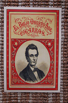 Abraham Lincoln For President campaign poster 1860 El Biejo Onesto Abe Cigarros