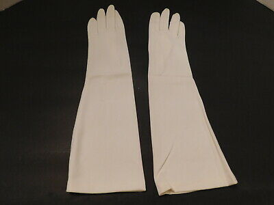 *Designer Ladies Cream  Nylon Dress Gloves Unlined Size 7