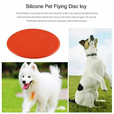 Pet Dog Flying Disc Silicone Flying Disc Pet Dog Puppy Tooth Training Fetch Toys