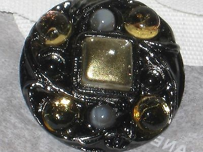 Chanel  Metal Cc Logo Front Color Green Gray Button  22 Mm /  1'' New