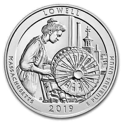 2019 5 oz Silver ATB Lowell National Historical Park, MA - SKU#171378