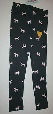 New Cat & Jack Gray Unicorn Print Leggings Gray Girls M 7 8 L 10 12 XL 14 16
