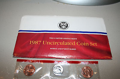 1987 US Mint Set Flatpack 10 Coins Kennedy Half Dollar COA Free Shipping 9988812